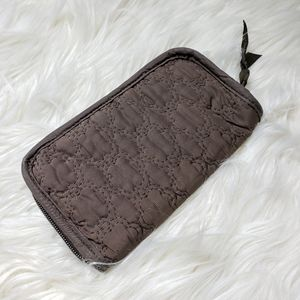 Thirty One Brown Quilted Zip Around Wallet